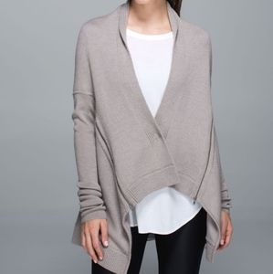 Lululemon Wrap It Up Sweater Heathered Storm Grey